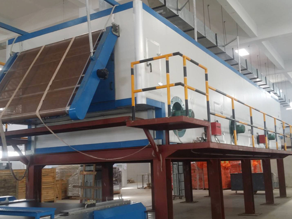 Continuous drying room